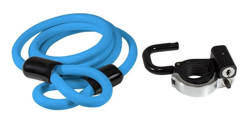 cadeado bike lock trava c/ cabo aço 1,2mt x 10mm x-plore u a