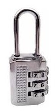 cadeado com segredo 20mm executivo troca senha mala armario