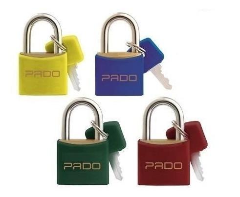 cadeado pado color 20mm - escolha a cor