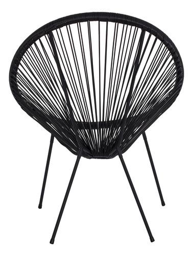 cadeira acapulco oval pvc base ferro pintado várias cores