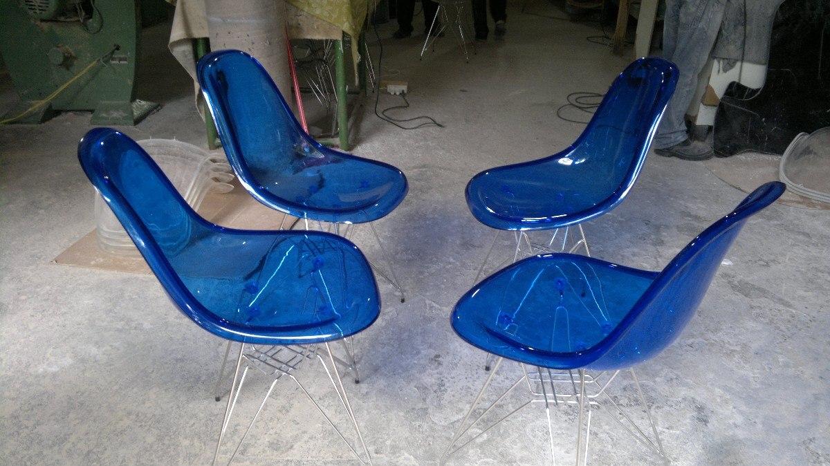 Cadeira Acr Lica Charles Eames Dkr Torre A O Inox R 365 00 Em  -> Cadeiras Acrilico Azul Turquesa