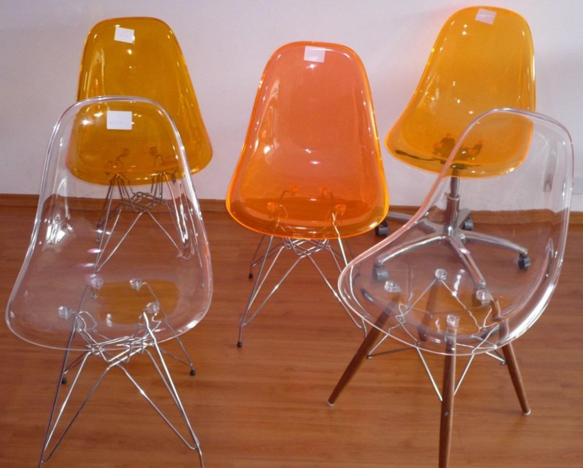 Cadeira Acr Lica Dkr Base Torre Para Cozinha Sala De Jantar R  -> Cadeiras Para Sala De Jantar Acrilico