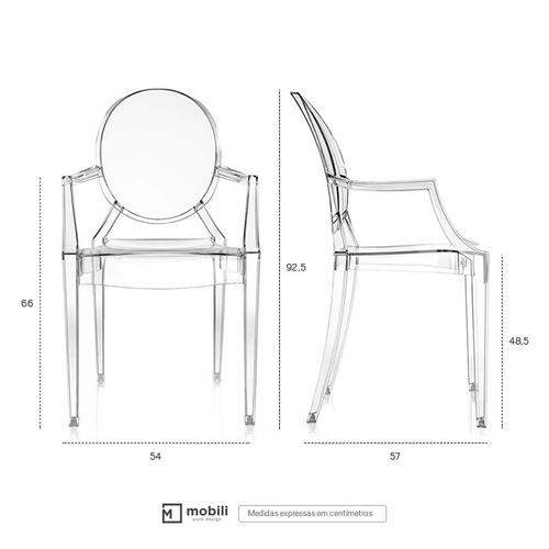 cadeira acrílica louis ghost - design - nf + garantia