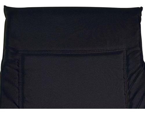 cadeira alfa preta 4 posições com porta copos 002301 mor