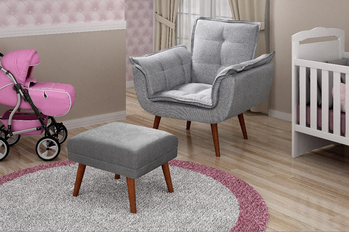 cadeira amamentação opala + puff + brinde bandeja laqueada. Carregando zoom. d2856d5e8a