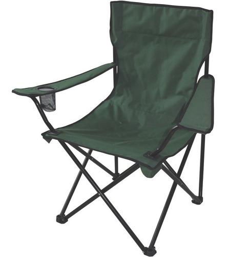 cadeira aurora dobrável verde de camping praia pescaria etc