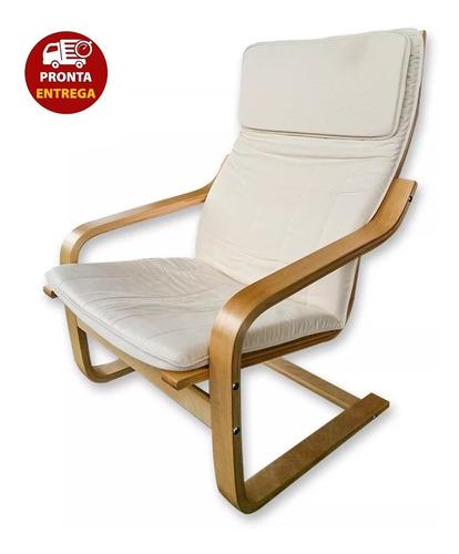 cadeira balanço poltrona papai madeira moderna pontoflex