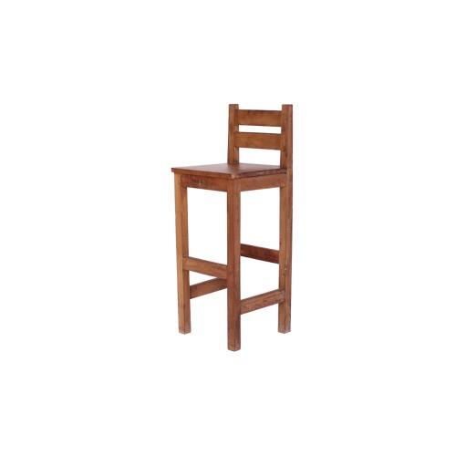 cadeira banqueta alta contemporânea madeira demolição