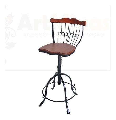 cadeira banqueta ferro madeira residencia promocional oferta