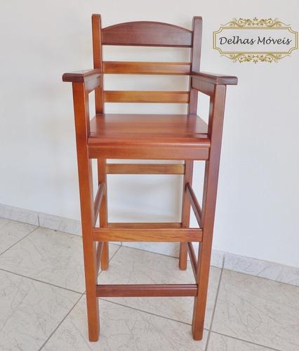 cadeira bebê criança infantil madeira refeição alimentação