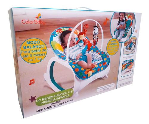 cadeira bebê descanso musical vibratória 18 kg safari rosa