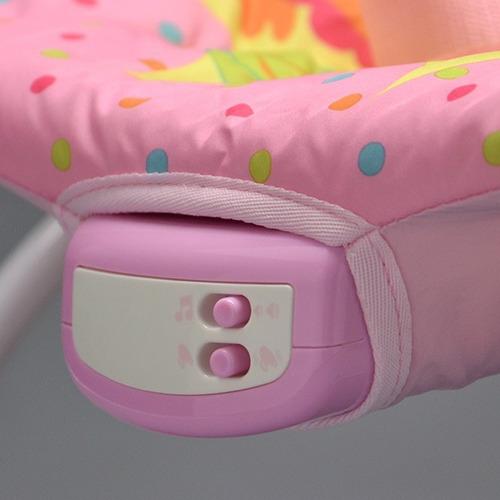 cadeira bebê descanso musical vibratória mastela 6903 rosa