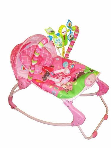 cadeira cadeirinha bebê descanso musical  rocker rosa