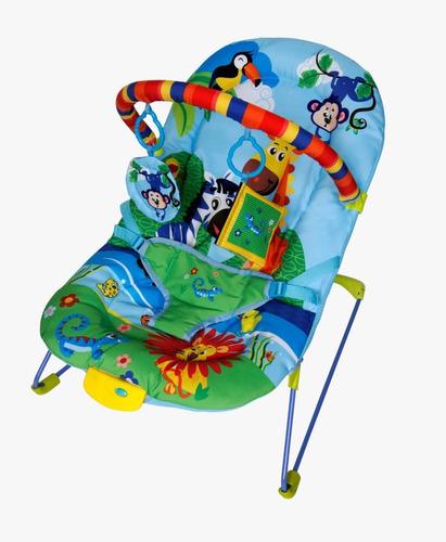 cadeira cadeirinha bebê musical vibratória (azul) ballagio