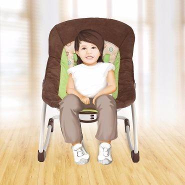 cadeira cadeirinha descanso balanço vibra e musical marrom