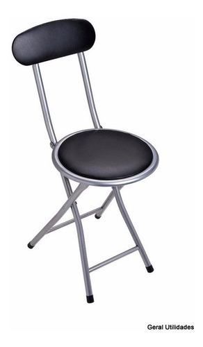 cadeira camping dobravel banqueta praia cozinha com encosto