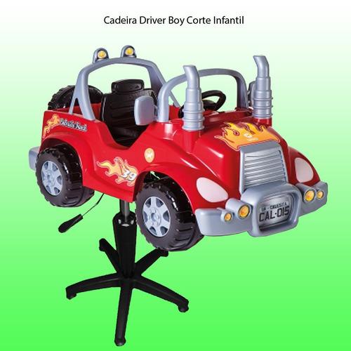 cadeira carrinho driver boy corte e trat. capilar infan.