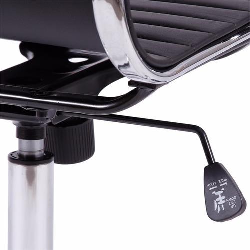 cadeira charles eames baixa esteirinha c. ecologico preto