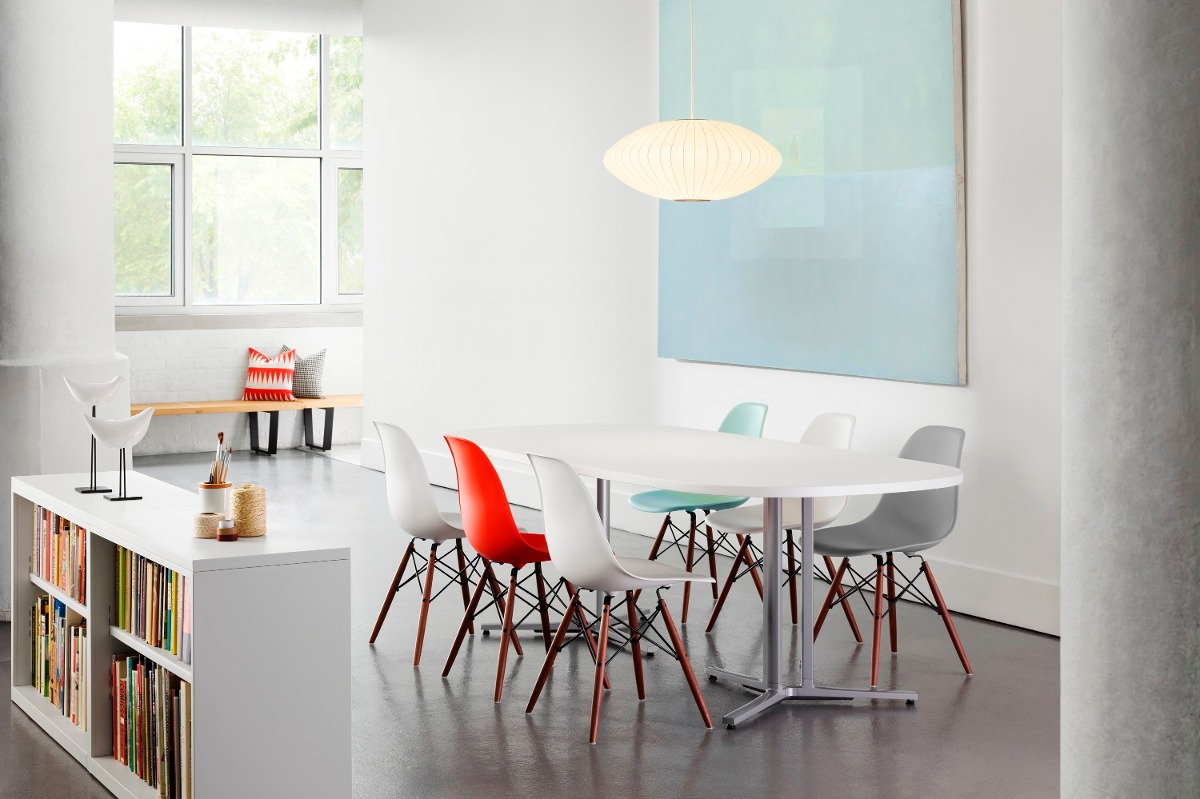 Cadeira Charles Eames Eiffel Base Metal Preto Design
