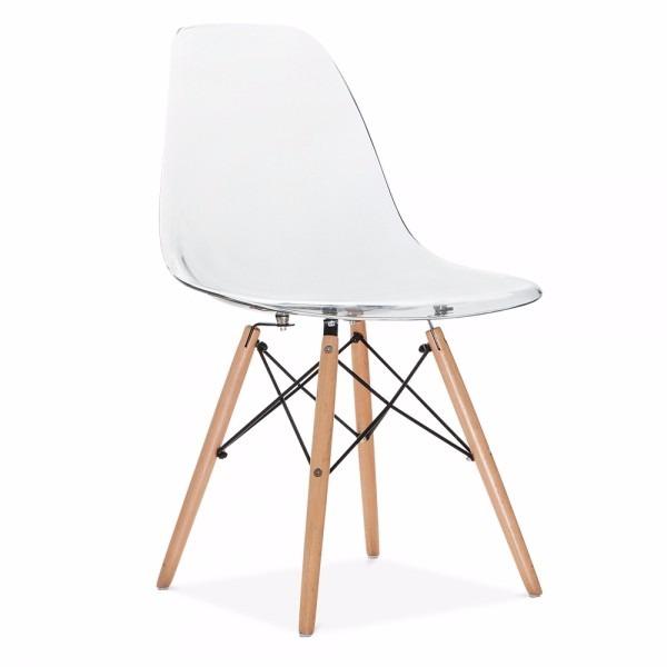cadeira charles eames eiffel em policarbonato transparente r 399 00 em mercado livre. Black Bedroom Furniture Sets. Home Design Ideas