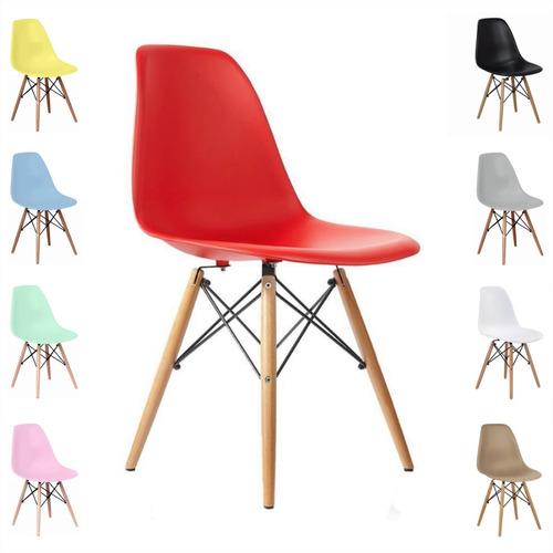 cadeira charles eames eiffel wood design varias cores