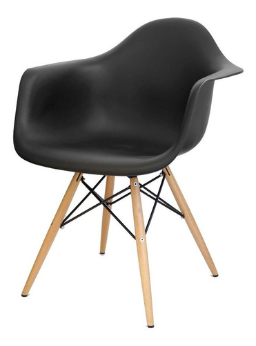 cadeira charles eames wood daw com braços b.madeira - eiffel