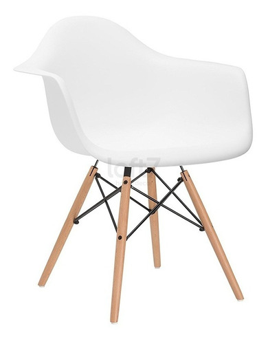 cadeira charles eames wood daw com braços várias cores