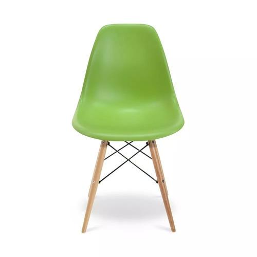 cadeira charles eames wood design cores nf + garantia dsw