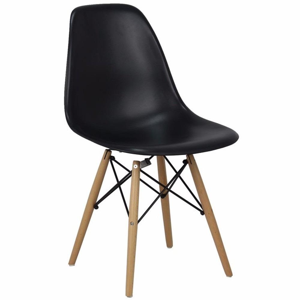 cadeira charles eames wood dsw preta r 135 99 em mercado livre. Black Bedroom Furniture Sets. Home Design Ideas