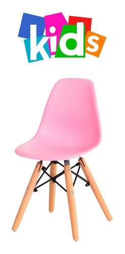 cadeira charles eiffel eames kids infantil base madeira wood várias cores