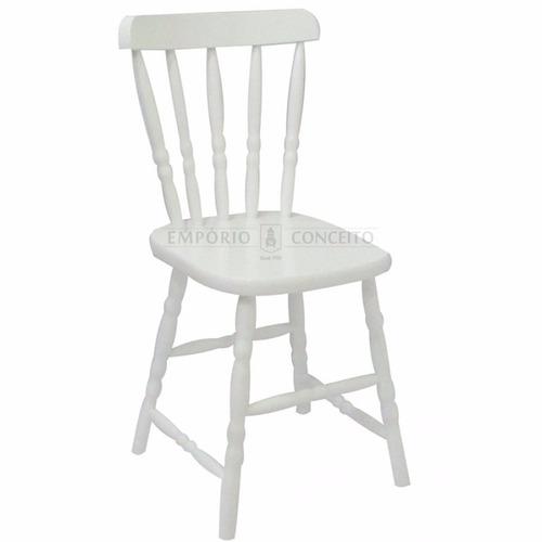 cadeira country branca madeira maciça - design, decoração,
