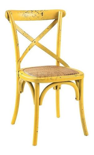 cadeira cross  x ratan madeira restaurante bar katrina cores