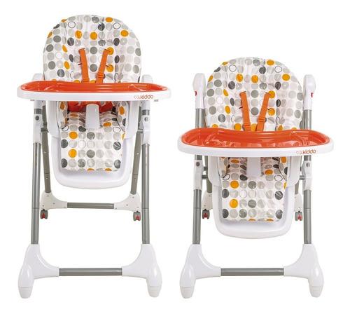 cadeira de alimentação snack laranja kiddo