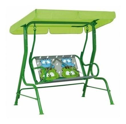 cadeira de balanço infantil 2 lugares gatoons verde mor
