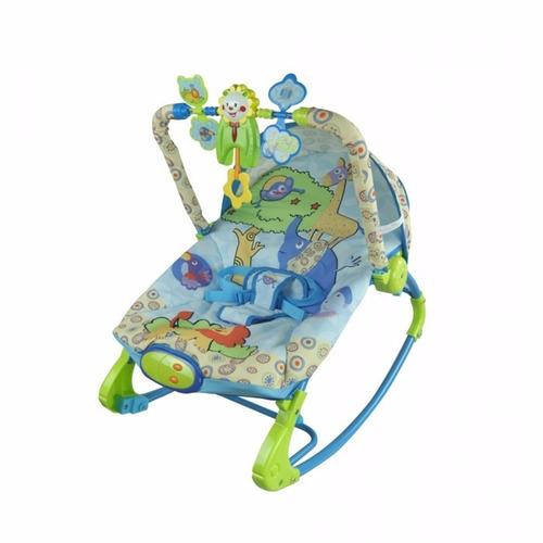 cadeira de balanço musical vibra rocker azul - color baby