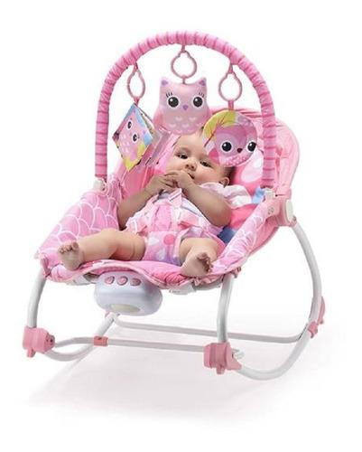 cadeira de balanço p/ bebês weego 0-20kg rosa vibra - 4029