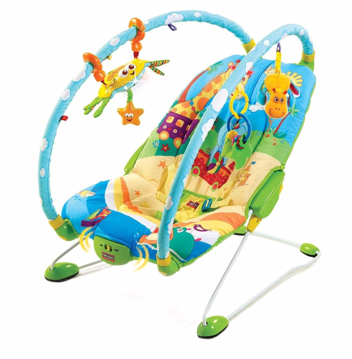 Cadeira De Balanço Tiny Love Gymini Bouncer Azul/amarelo R$ 499  #0B8BC0 1176x1200