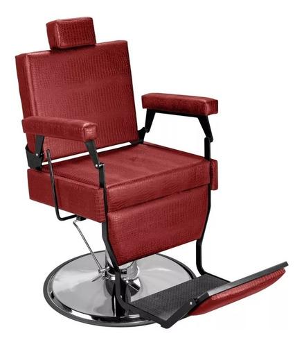 cadeira de barbeiro barber black - pé cromado - marri