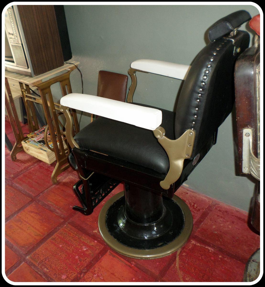 Cadeira De Barbeiro Ferrante Antiga R$ 3.900 00 em Mercado Livre #9D412E 1109x1200