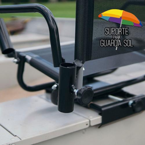 cadeira de barco com sup de guarda sol e de varas (telada)