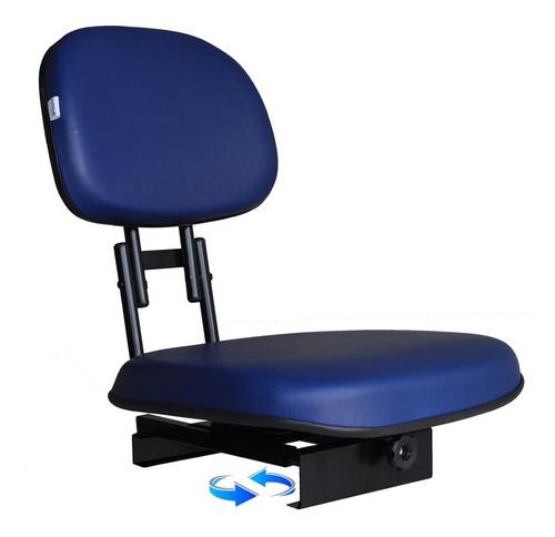 cadeira de barco para piloteiro estofada giratória dobrável