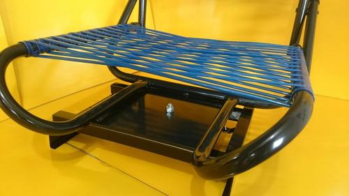 cadeira de barco pesca cordinha com suporte giratório