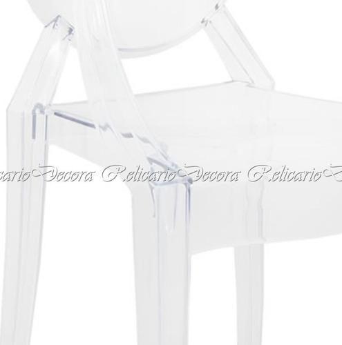 cadeira de braço poltrona design transparente impecavel