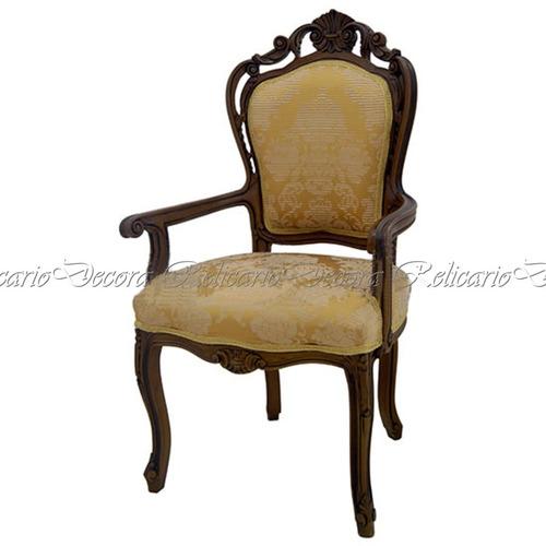 cadeira de braço poltrona luiz xv entalhes unicos