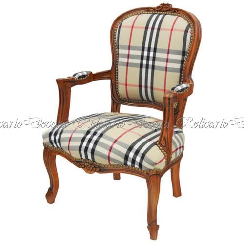 cadeira de braço poltrona madeira maciça entalhes artesanais