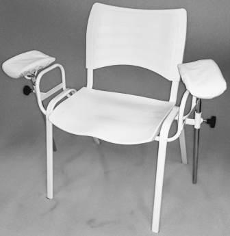 cadeira de coleta de sangue modelo iso branca