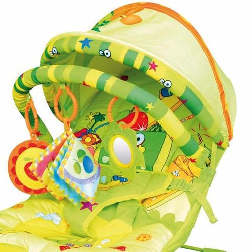 cadeira de descanso musical vibratória bebê frutinhas dican