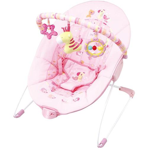 cadeira de descanso vibratória mastela 6787 até 11kg - rosa
