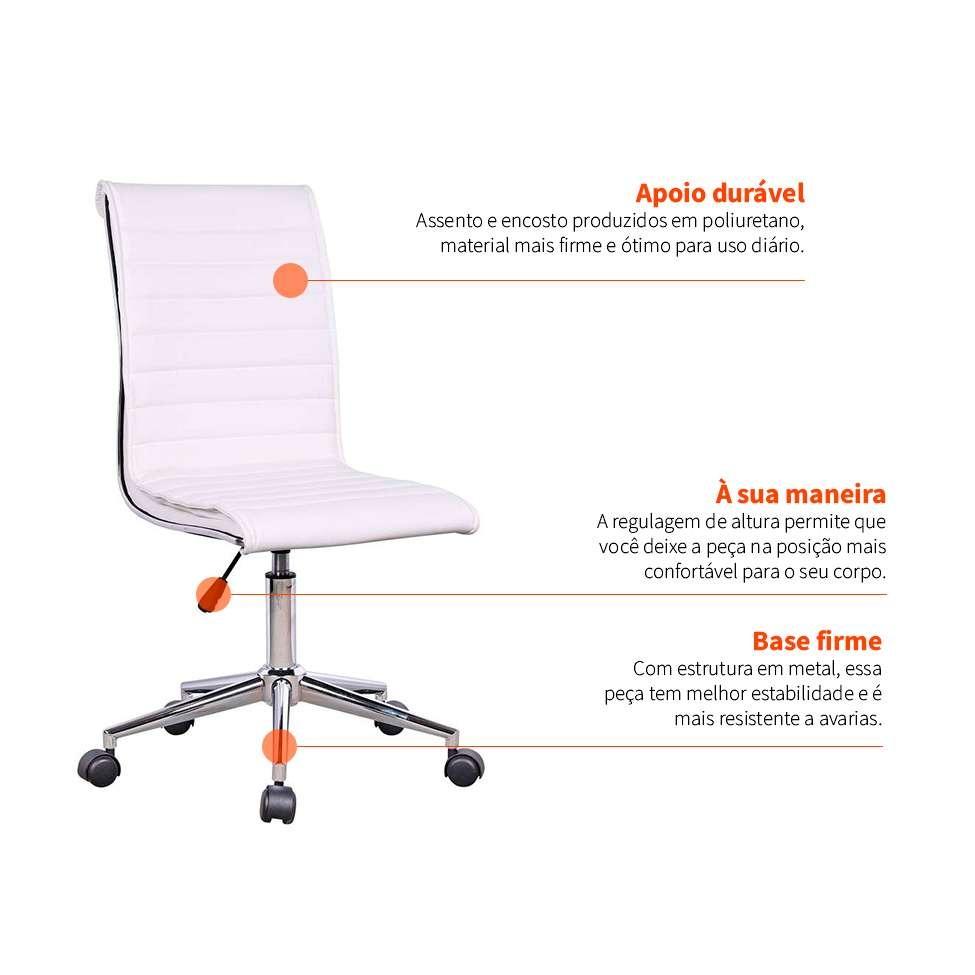 d03becbe3 cadeira de escritório secretária giratória marilyn plu... Carregando zoom.