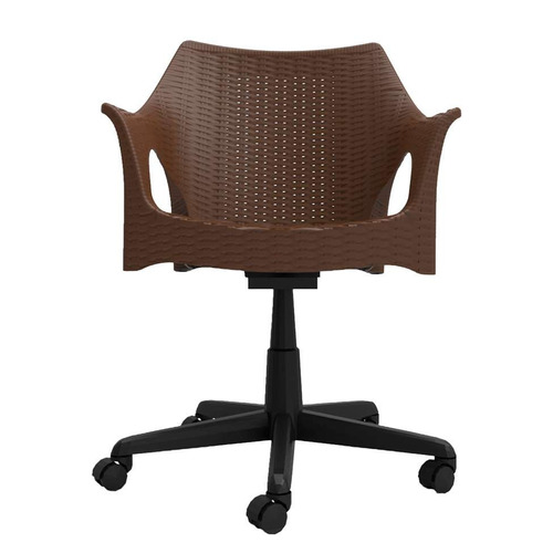 cadeira de escritório secretária relic office marrom escu...